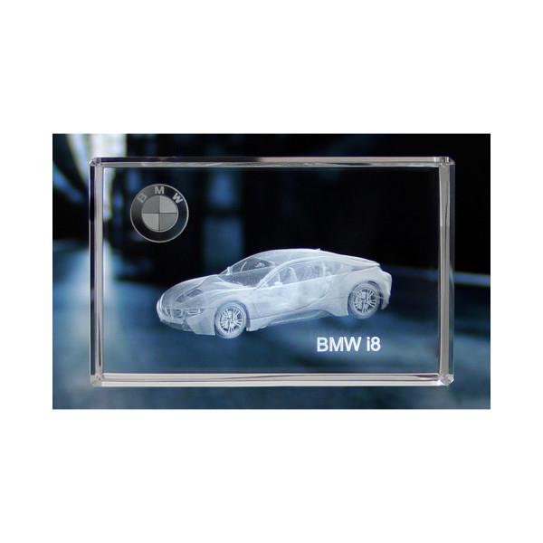Standard 3D Glaskristall BMW i8