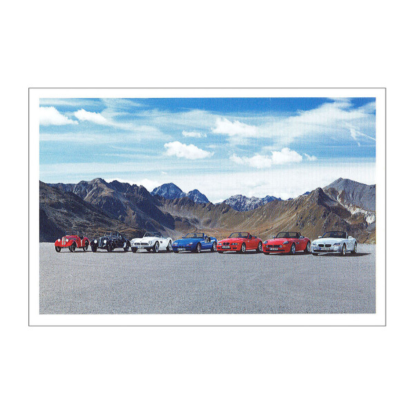 Postkarte BMW Dixi 3/15 PS, 328 u.a.