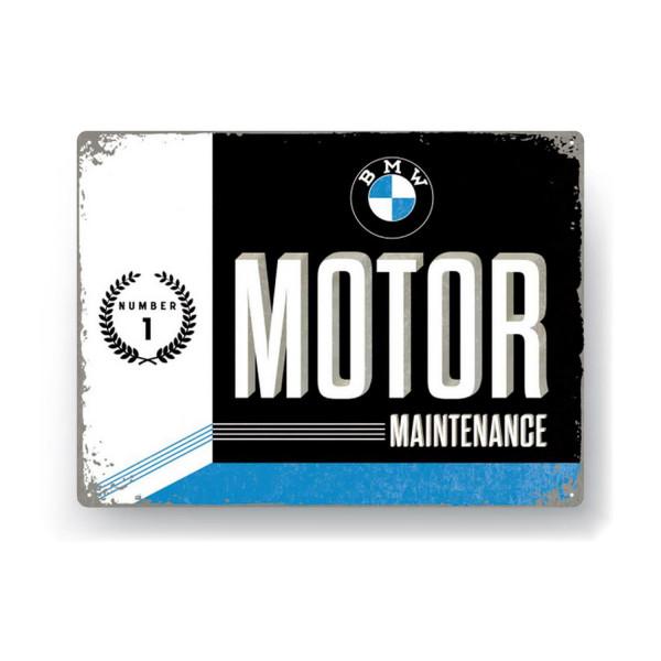 BMW Blechschild Motor Maintenance 30x40cm