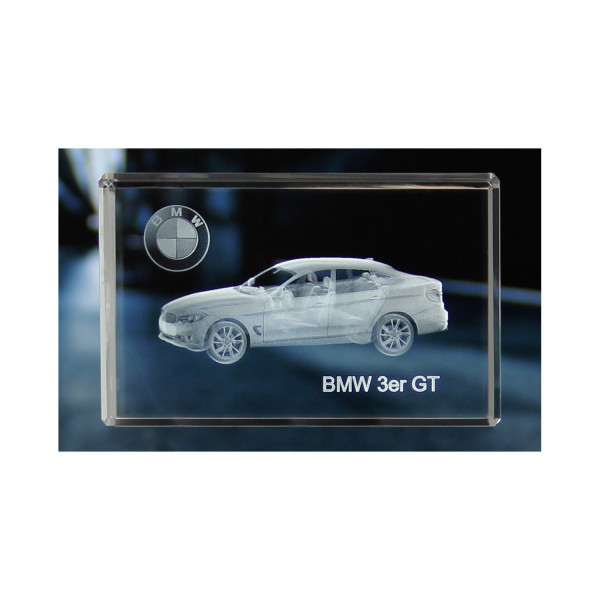 Standard 3D Glaskristall BMW 3er Gran Turismo