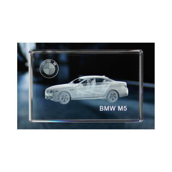 Standard 3D Glaskristall BMW M5 Limousine