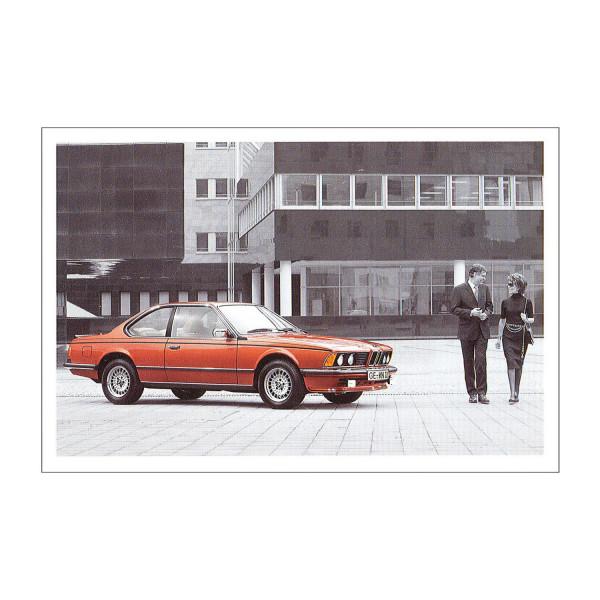 Postkarte BMW 628CSi