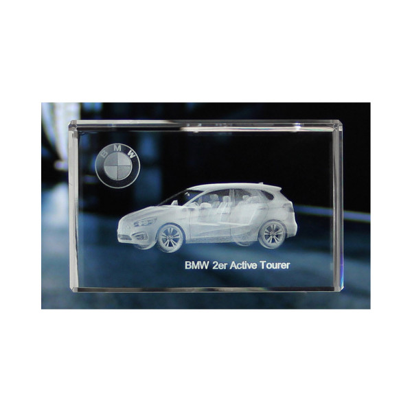 Standard 3D Glaskristall BMW 2er Active Tourer