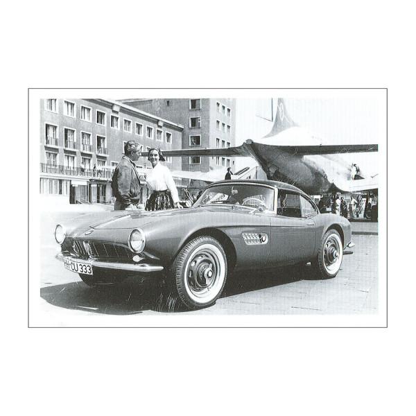 Postkarte BMW 507, 1957-1959 (sw)