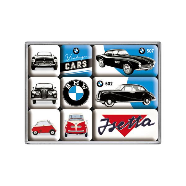 BMW Magnetset Vintage Cars 7 x 9 x 2 cm