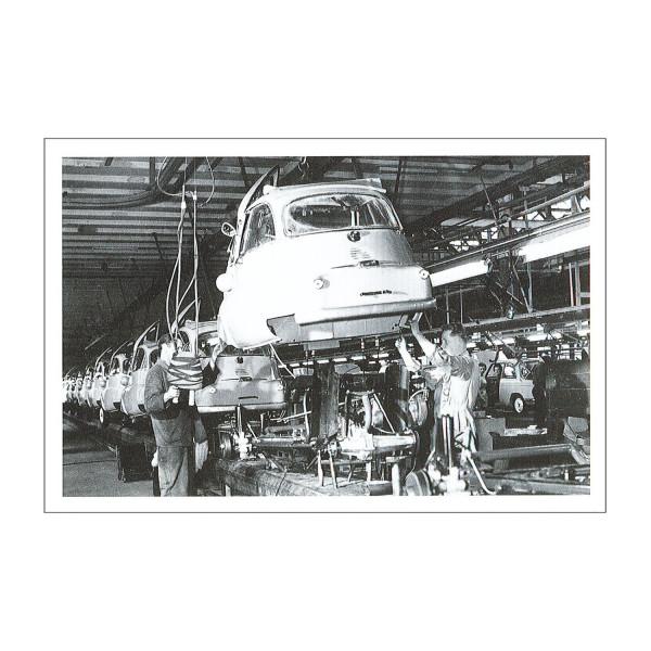 Postkarte BMW Isetta Export (sw)