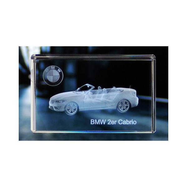 Standard 3D Glaskristall BMW 2er Cabrio