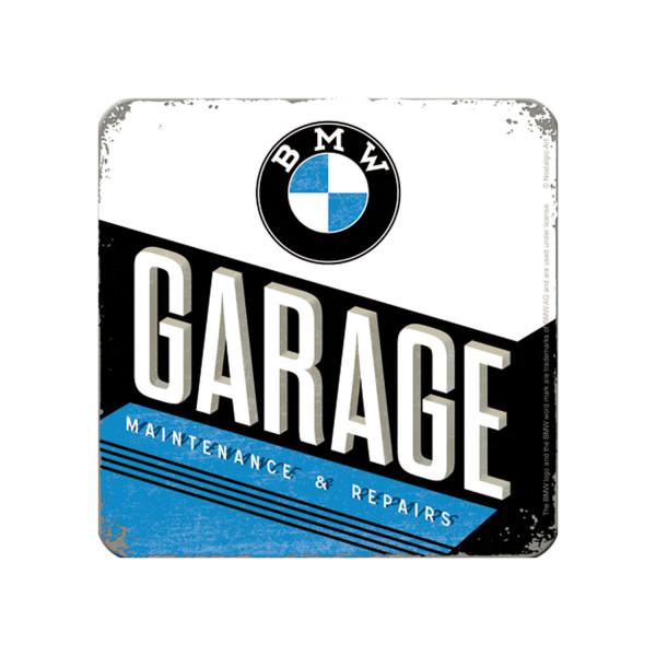 BMW Metall Untersetzer Garage 9x9 cm
