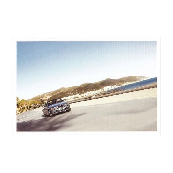 Postkarte BMW 328i Cabrio - Strand