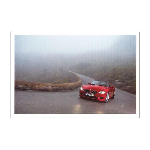 Postkarte BMW Z4 M - Nebel