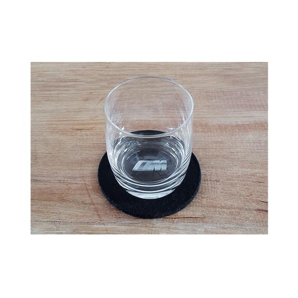 3D Trinkglas M Logo 0,2l