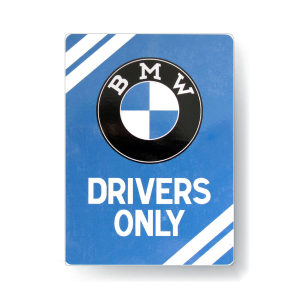 BMW Magnet Drivers Only Blue 8x6 cm