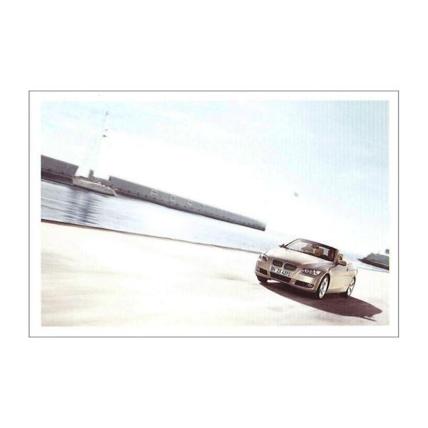 Postkarte BMW 335i Cabrio - Segelboot