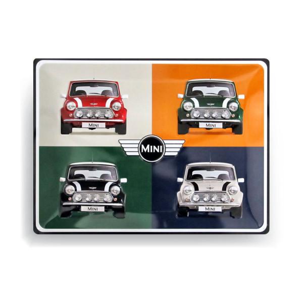 MINI Bleckschild 4 Cars Pop Art