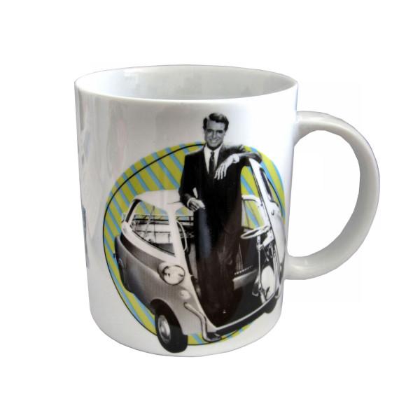 Kaffeebecher Cary Grant mit Isetta 300 in Geschenkbox