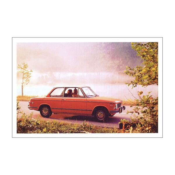 Postkarte BMW 2002tii US, 1971-1973