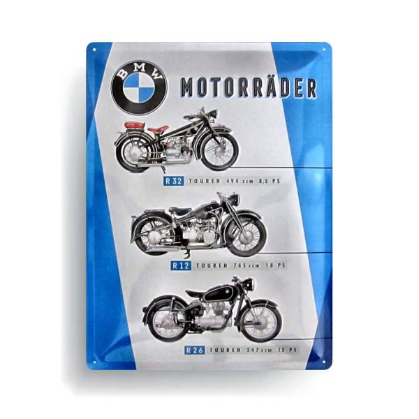 BMW Blechschild Motorräder Chart