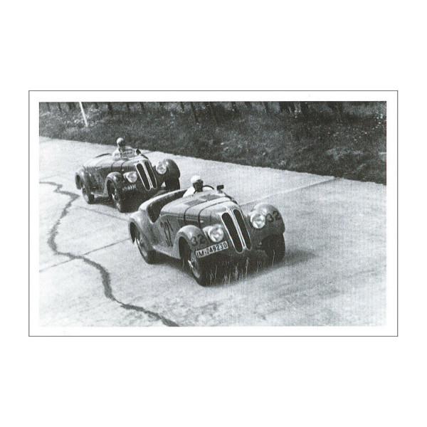 PK BMWM Zwei BMW 328 beim Eifelrennen 1937