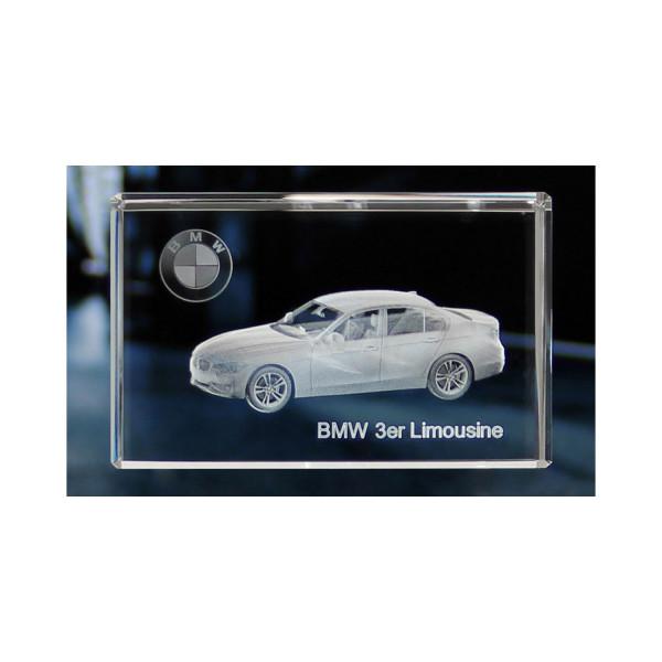 Standard 3D Glaskristall BMW 3er Limousine