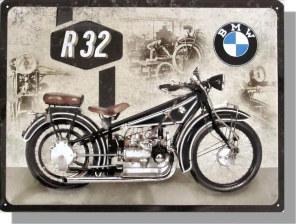 BMW Blechschild Motorcycle R32