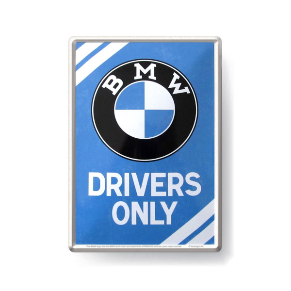 BMW Blechpostkarte Drivers Only