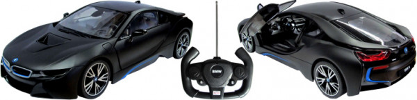 BMW i8 schwarz Tür fernbedienbar, 1:14 (27MHz)