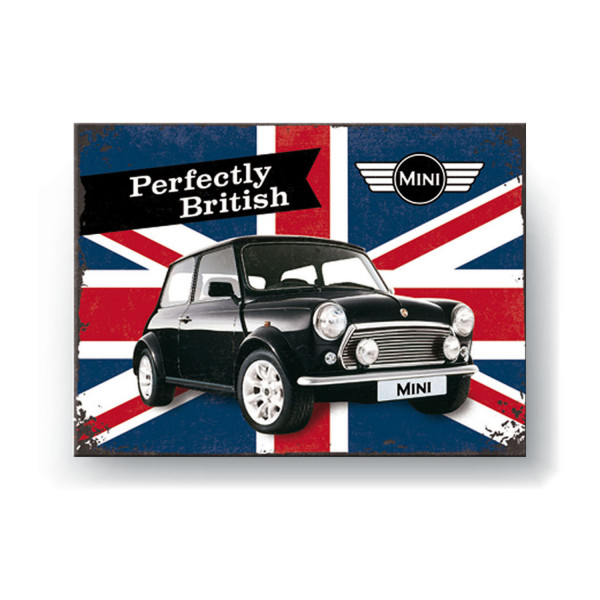 MINI Magnet Perfectly British 8x6 cm