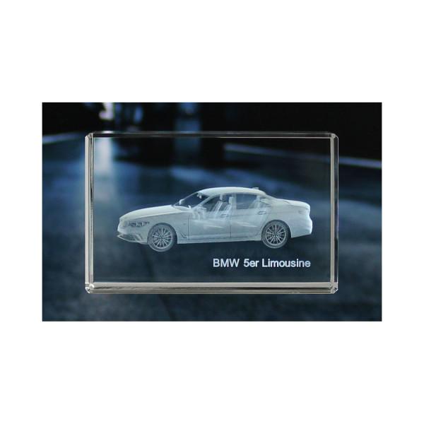 Standard 3D Glaskristall BMW 5er Limousine