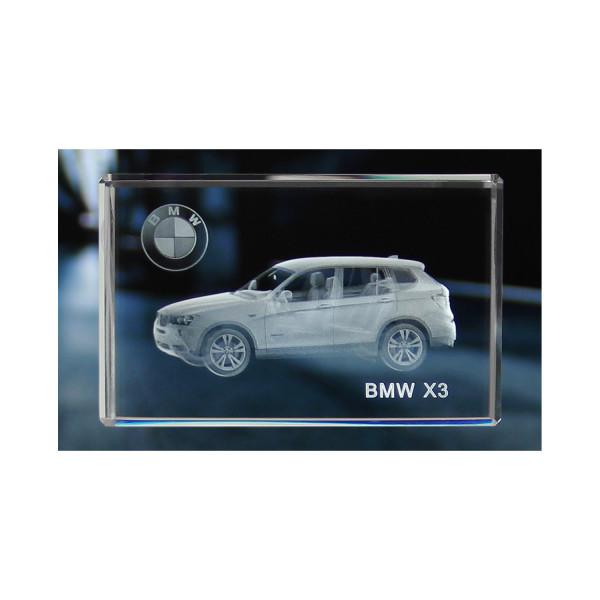 Standard 3D Glaskristall BMW X3