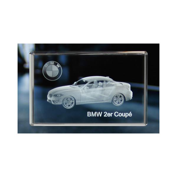 Standard 3D Glaskristall BMW 2er Coupe
