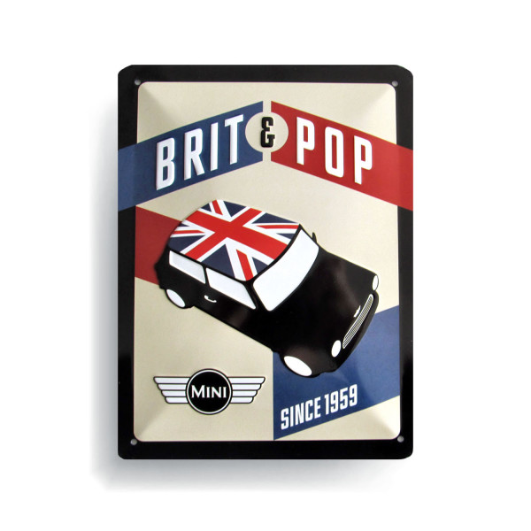 MINI Blechschild Brit & Pop