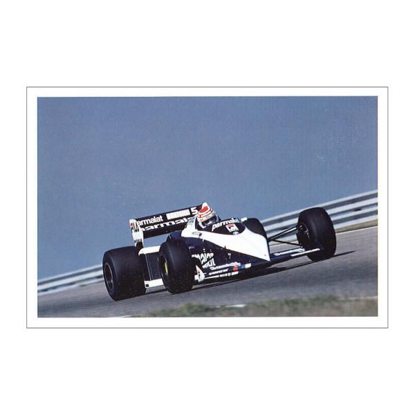 Postkarte Nelson Piquet im Brabham BMW 1983