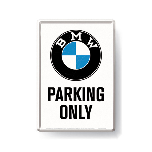BMW Blechpostkarte Parking Only