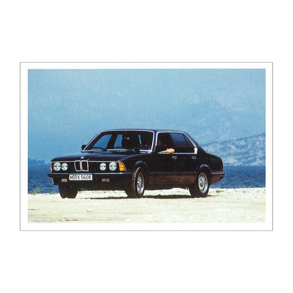 Postkarte BMW 745i, 1982-1986