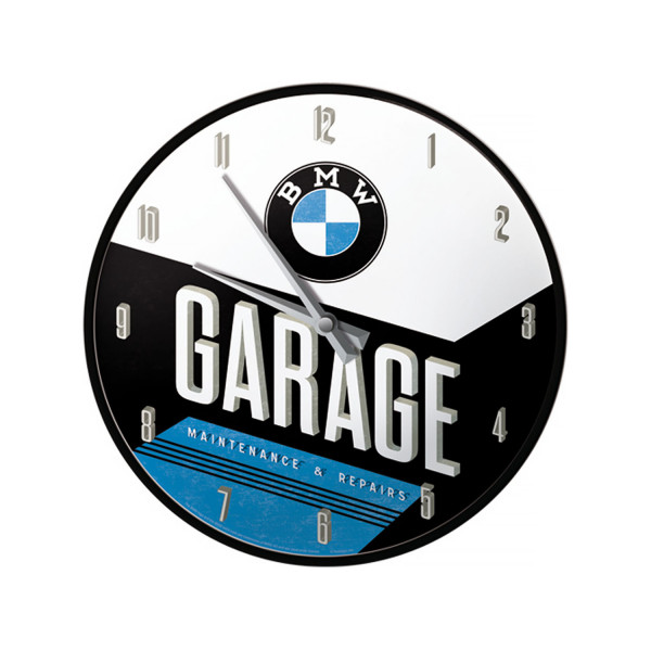 BMW Wanduhr Garage