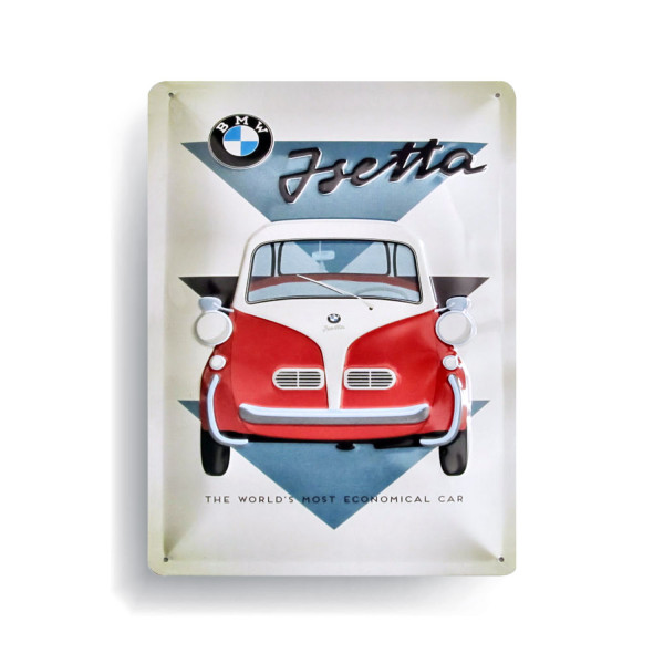 BMW Blechschild Isetta -The worlds most Economical Car
