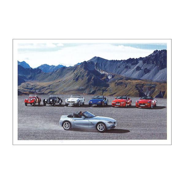 Postkarte BMW Z4 3.0si, Dixi 3/15 PS u.a.
