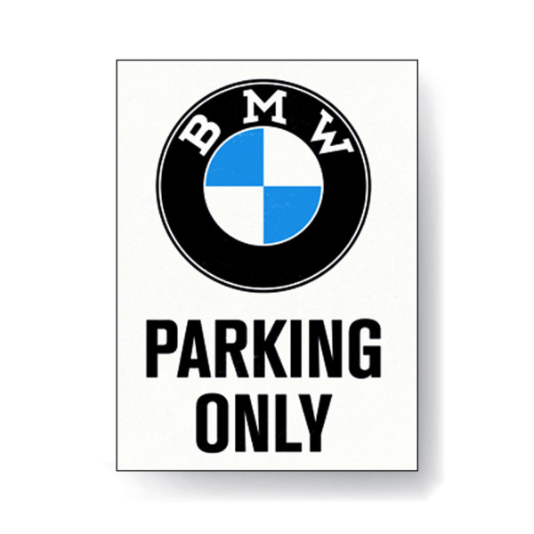 BMW Magnet Parking Only White