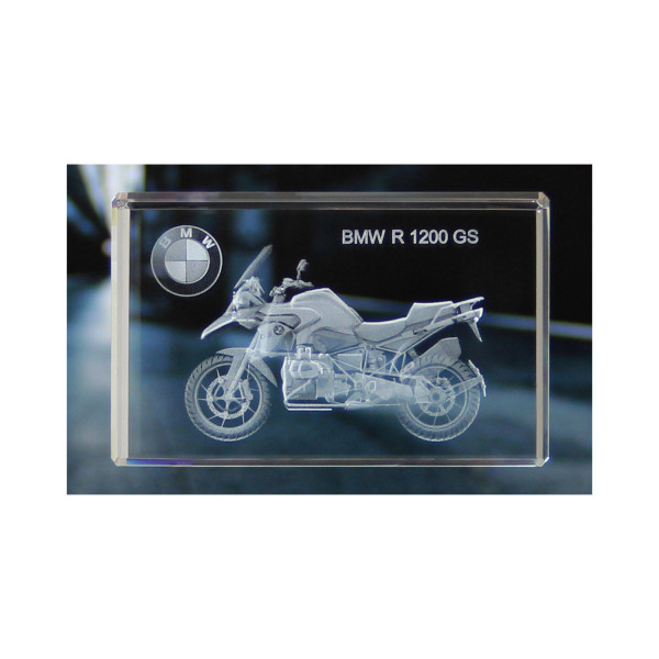Standard 3D Glaskristall BMW Motorrad R 1200 GS