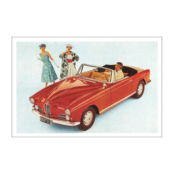 Postkarte BMW 503 Cabriolet, 1956-1960