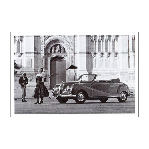 Postkarte BMW 502 Baur Cabrio