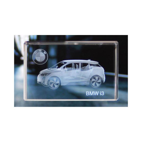 Standard 3D Glaskristall BMW i3