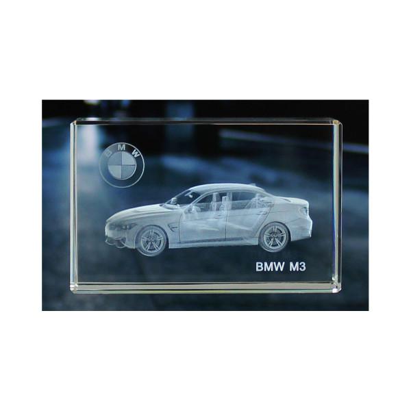 Standard 3D Glaskristall BMW M3 Limousine