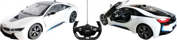 BMW i8 weiß Türen manuell bedienbar, 1:14 (27MHz)