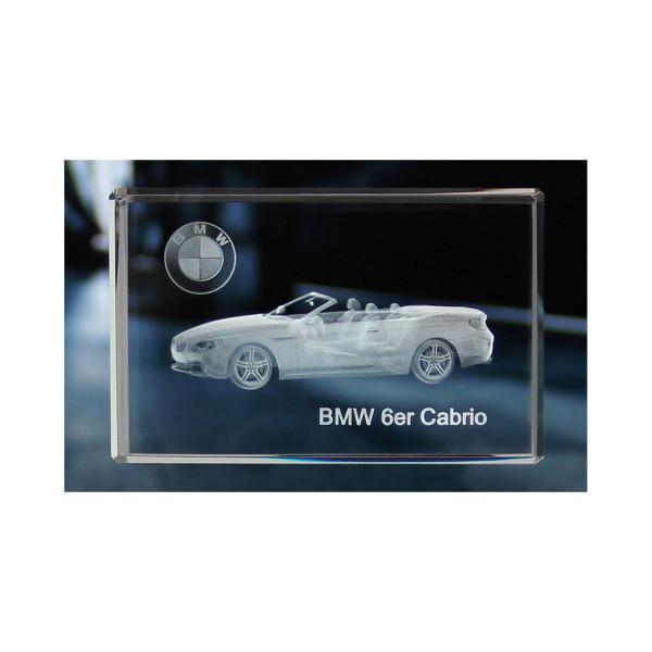 Standard 3D Glaskristall BMW 6er Cabrio