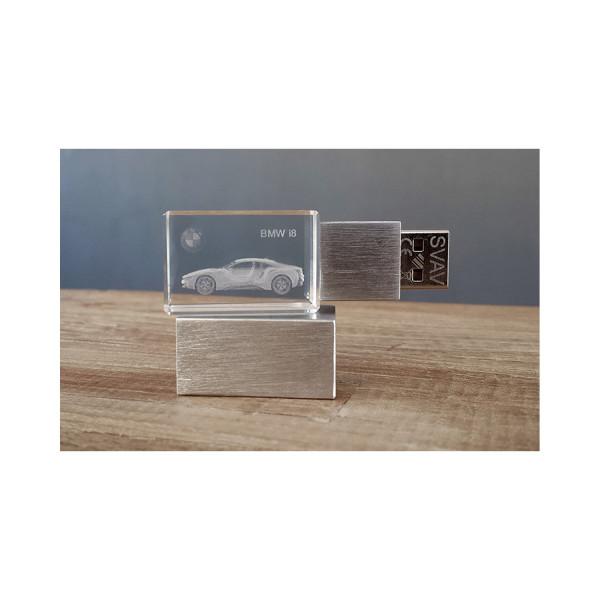 3D USB Stick BMW i8 - 64GB silber