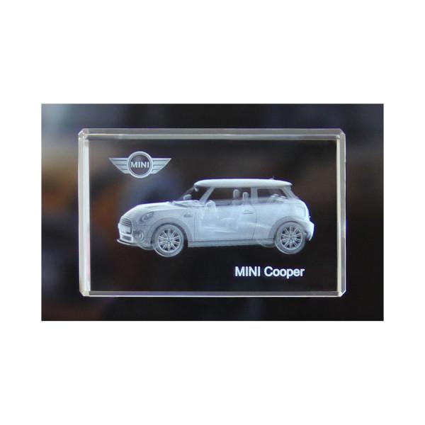 Standard 3D Glaskristall MINI Cooper 3-Türer