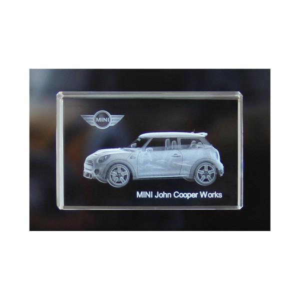 Standard 3D Glaskristall MINI John Cooper Works