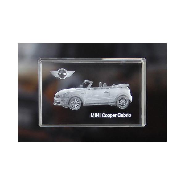 Standard 3D Glaskristall MINI Cooper Cabrio