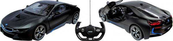 BMW i8 schwarz Türen manuell bedienbar, 1:14 (40MHz)